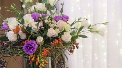 Large decorativing bouquet panorame