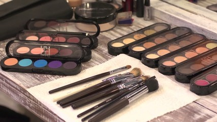 Make-up tools behind the scenes