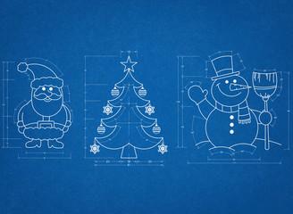 Christmas Symbols Blueprint