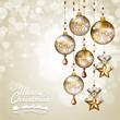 Balls golden pendants