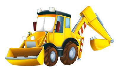 Cartoon excavator - illustration for the children