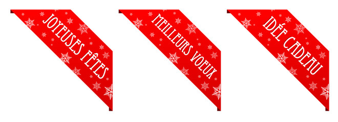 Rubans Joyeuses Fêtes – Meilleurs Vœux – Idée Cadeau