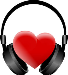słuchawki i serce