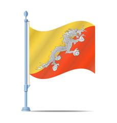 Bhutan flag vector