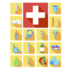 Icons for applications on a computer or phone category Medicine