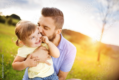 Father and daughter playing - 73727405