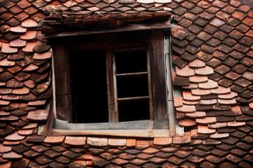 Mansard old roof tile