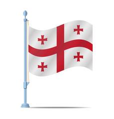 Georgia flag vector