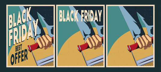 Sale posters set. Black Friday Posters.