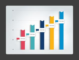 Column chart. Infographics chart. Vector.