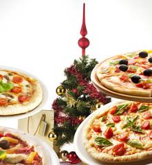 Pizza at Christmas