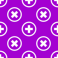 Plus web icon. flat design. Seamless pattern.