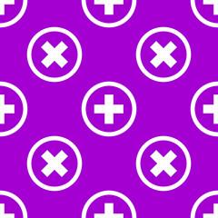 Plus web icon. flat design. Seamless pattern.