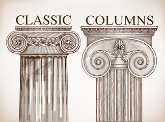Classical column background set
