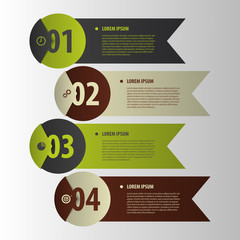 Modern banners. Infographics element origami style. Vector