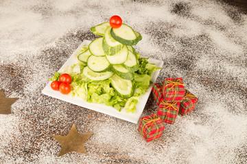 Christmas tree salad