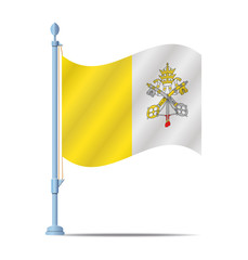 Vatican City flag vector