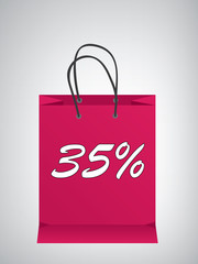 Shopping bag in design at dark pink color ,eps10