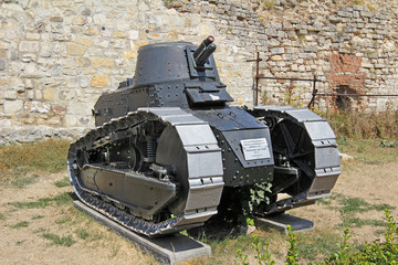 Old french light tank FT 17 model 1917