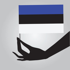 Hand with Estonia flag