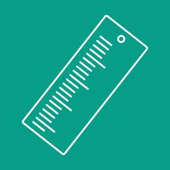 Vector ruler icon. Eps10