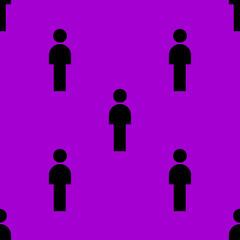 man restroom web icon. flat design. Seamless pattern.