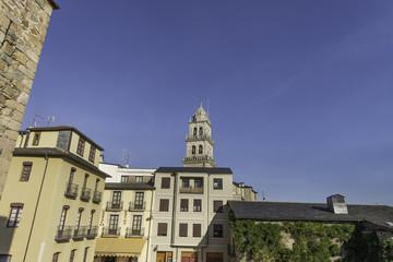 Zona histórica de Ponferrada, León,España