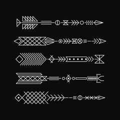 Hipster arrows. Abstract elements for tattoo and design.
