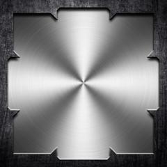 polished metal plate
