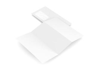 Geschäftsausstattung Briefpapier Kuvert weiß