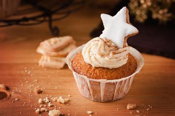 weihnachtlicher spekulatius cupcake III