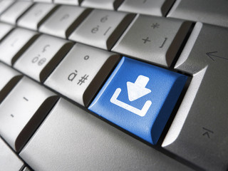 Internet Download Key Button