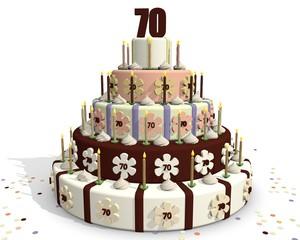 Jubileum taart - zeventig jaar