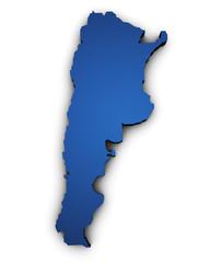 Map Of Argentina 3d Shape