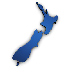 Map Of New Zealand 3d Shape