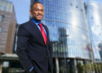 Smiling african businessman