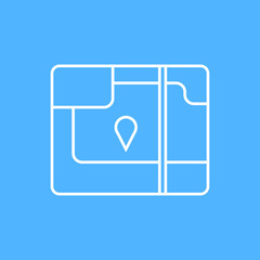 Vector map icon. Eps10