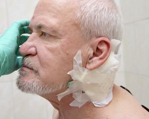 Injured old man