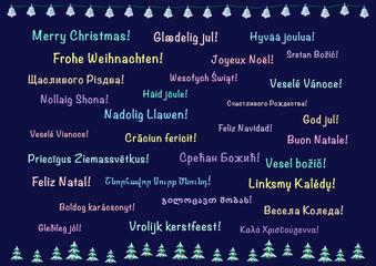 Christmas card, polylanguage