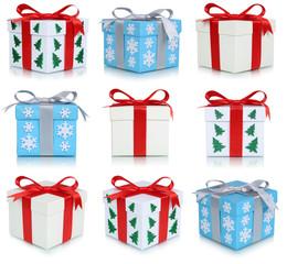 Bescherung Geschenke an Weihnachten Collage Weihnachtsgeschenke