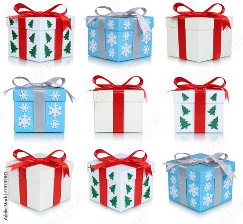 canvas print picture Bescherung Geschenke an Weihnachten Collage Weihnachtsgeschenke