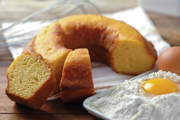 Ciambellone, traditional italian cake