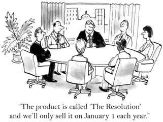 """... called 'The Resolution' and... sell on January 1..."""