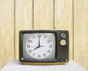 clock on Vintage TV