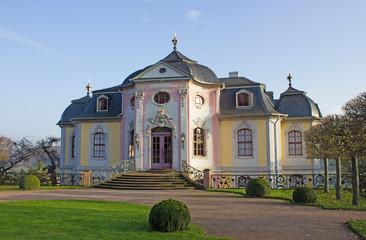 Rokokoschloss in Dornburg/Saale (1736, Thüringen)