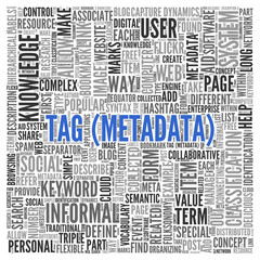 Tag Metadata Concept in Word Tag Cloud