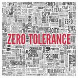 Zero Tolerance Concept in Word Tag Cloud Design poster