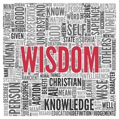 Wisdom Related Word Concept in Word Tag Cloud