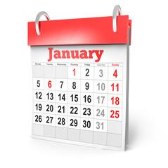 3d Calendar January