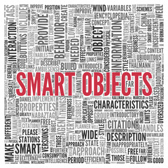 SMART OBJECTS Concept in Word Tag Cloud Design